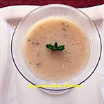 recette Blanc manger banane - noix de coco - menthe