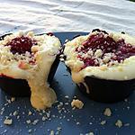 recette Tiramisu framboise dans sa petite corbeille en chocolat