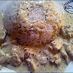 recette riz à l'escalope et crème fraîche-moutarde: