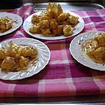 recette Choux à la créme patissiére et caramel.