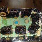 Petit train en gâteau