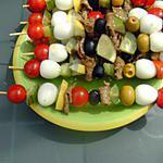 recette Salade en brochettes