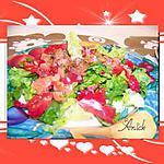 recette Salade aux lardons de saumon atlantique  fumé
