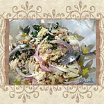 recette Taboulé vert au crabe et aux oignons rouges