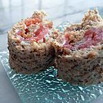 recette Maki de pain de mie au boursin et saumon fumé