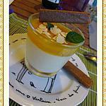 recette Pannacotta au lait de coco et gelée de mangue