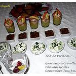 recette Trio de verrines salées