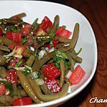 recette Salade de haricots verts et tomates