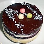 recette Palet mousseu chocolat blanc et myrtilles ( dessert de mon invention ) :p