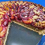 recette Tarte aux quetsches , crème de noisettes et croustillant pralin