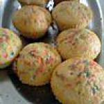 recette muffins au citron colorés