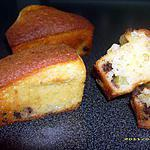 recette minis cakes aux pépites de chocolat, coeur de kiwis