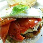recette Hamburger de poulet à la méditéranéenne