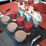 recette Petits cornets croquants vanille fraise avec son coulis et panna cotta au nutella