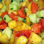 recette salade minceur à la mangue
