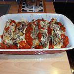 recette courgettes farcis avec  un mélange de champignons forestier