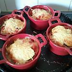 recette Mini cocotte de gratin de courgettes, tomate et mozzarella