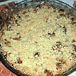 recette Crumble aux pommes et sa chantilly