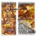 recette quiche tomate cerise saint-morêt et cantal