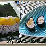 recette Makis au thon & orange