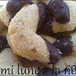 recette biscuits demis lunes à la noix de coco: