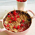 recette Crumble groseille-pommes-amandes