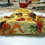 recette Quiche juteuse aux légumes (traduite par mes soins d'une recette allemande) Photo perso