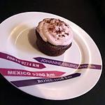 recette Cupcake chocolat et mousse à la fraise