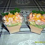 recette panna cotta crevettes/avocat