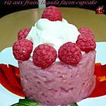 recette riz aux fraise Tagada ® façon cupcake