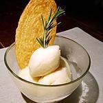 recette Sorbet aux pêches, miel et romarin...
