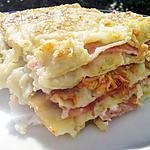 Lasagne de ravioles au jambon & fromage