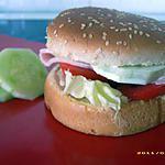 recette hamburger froid aux petits légumes et curry (diététique)