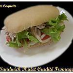 Sandwich Poulet Crudité Mozza