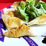 recette Samossas au poulet, pomme et curry