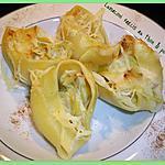recette Lumaconi farcis au thon & poireau