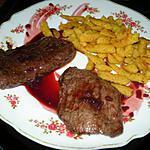 recette Escalope de chevreuil à la sauce au cynorrhodon (photo perso)