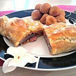 """recette Magret de canard au fois gras en croûte""""concocter par mr gourmand"""""""