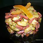 recette courgettes poelées au bacon et aux écorces d'oranges confites