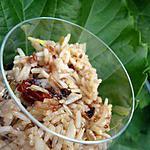 recette Salade de riz , tomates séchées , olives et soja