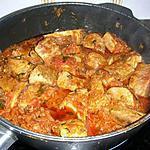recette Sauté de veau au gingembre et à la coriandre (photo perso)
