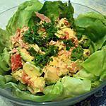 recette Salade à l'avocat