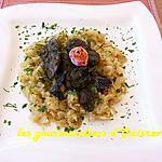 recette Foie de volaille sur lit de choux vert