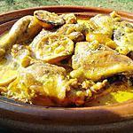 recette Tajine de poulet au citron et olives à la créme