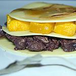 recette Lasagnes ouvertes au boudin noir, infusion de sauge et de safran, potiron.