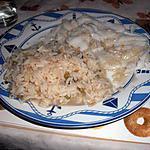recette Flétan avec son riz au tajine