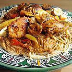 recette Tajine de poulet basquaise au chorizo et cépes sauce pesto rosso
