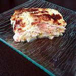 recette Gratin de courgette/saumon & ravioles du dauphiné