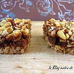 recette Carrés multinoix à la pâte de noisettes et au miel