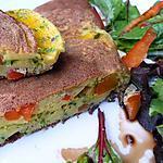 recette Omelette souflée aux poivrons et aux herbes